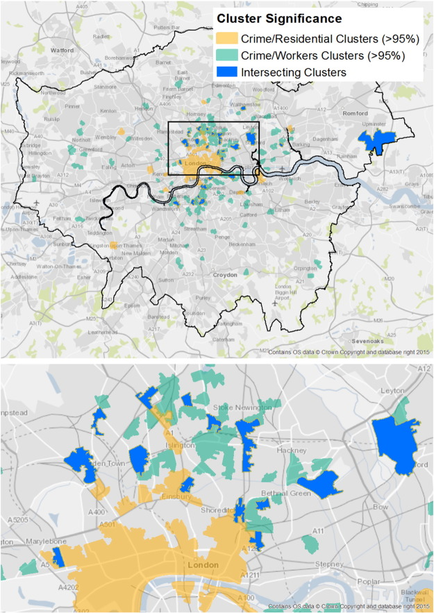 Exploring the impact of ambient population measures on London crime