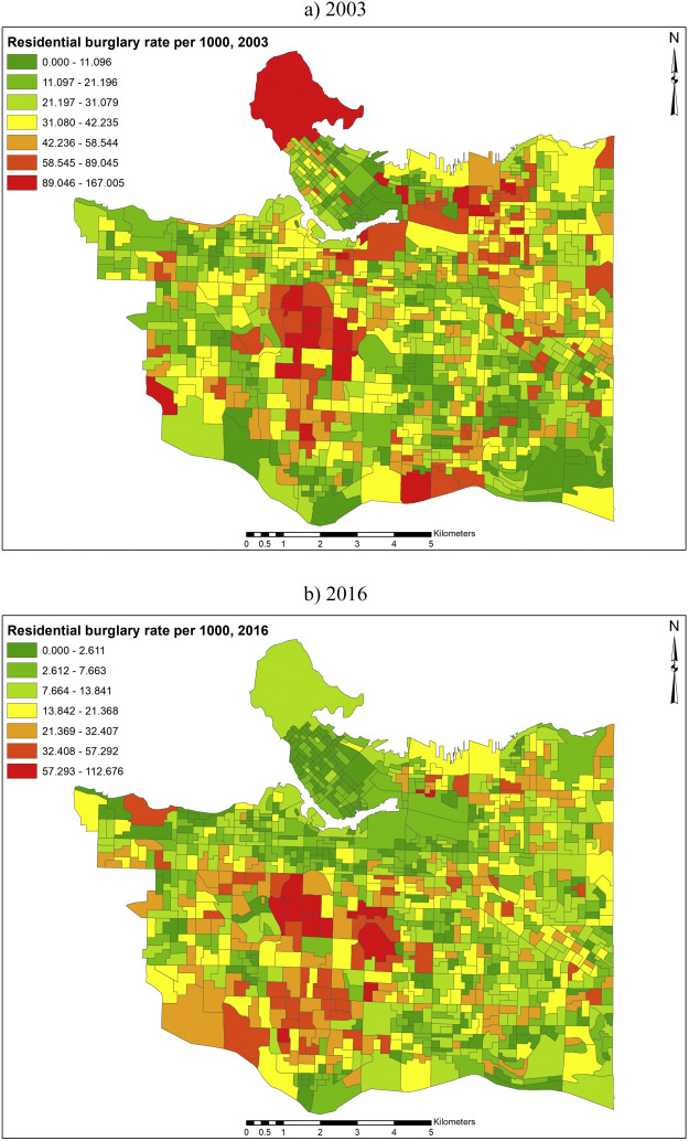Changing spatial patterns of residential burglary and the crime drop