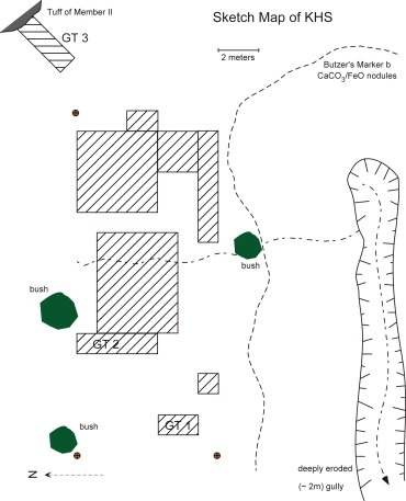 Microstratigraphy of the kibish hominin sites khs and phs lower omo sketch map of khs at the end of the 2002 field season showing extent of the excavated areas location of geological trenches gt 1 2 3 and the outcrop ccuart Image collections