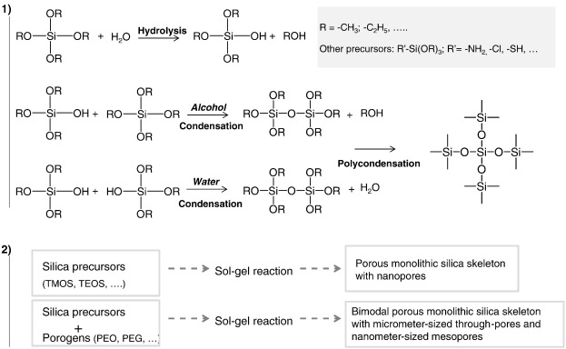 Strategies based on silica monoliths for removing pollutants