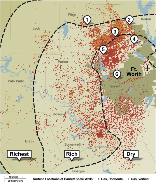 Evaluation of impact of shale gas operations in the barnett shale map of oil and gas wells in the barnett shale region rrc 2012 the sites used in study analyses were the following 1 decatur thompson autogc publicscrutiny Gallery