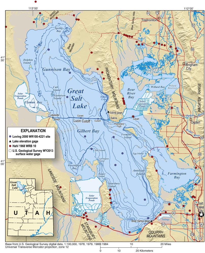 map of great salt lake Calculating Salt Loads To Great Salt Lake And The Associated map of great salt lake