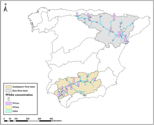 Map Of Spain Ebro River.Perfluoroalkyl Substances In The Ebro And Guadalquivir River Basins