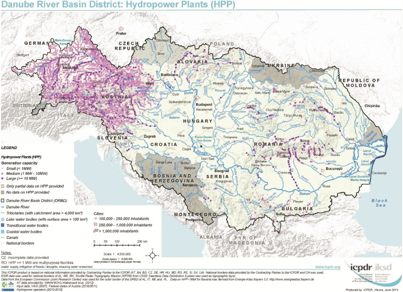 Challenges Of River Basin Management Current Status Of And - Danube river location on world map