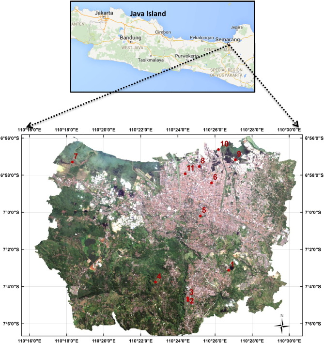 Spatial response surface modelling in the presence of data