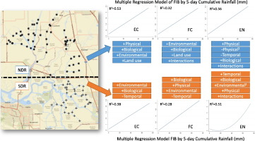 Monitoring bacterial indicators of water quality in a