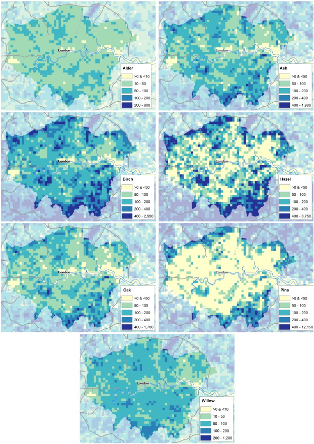 Mapping Allergenic Pollen Ve Ation In UK To Study