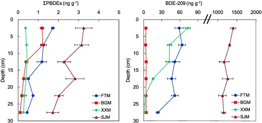 Contamination of polybrominated diphenyl ethers (PBDEs) in urban