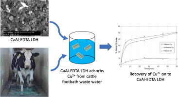 Removal of copper from cattle footbath wastewater with