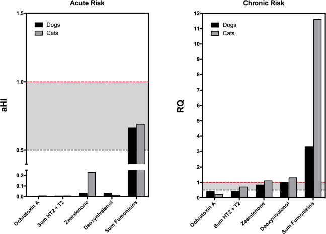 Risk assessment of the exposure to mycotoxins in dogs and