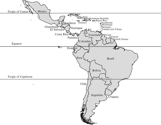 Latin America Blank Physical Map. Inspiring Printable ...