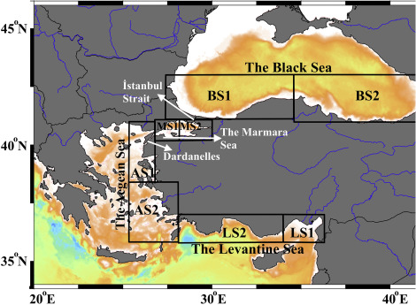 Bio-optical trends of seas around Turkey: An assessment of