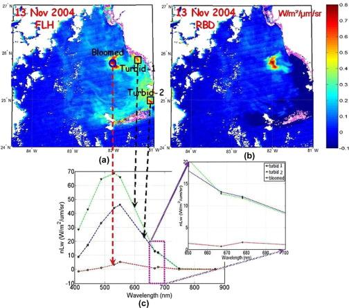 Detecting Karenia Brevis Blooms In A Modis Aqua Image Of November 13 2004 In