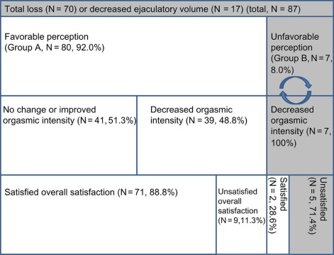 Patient Perception of Ejaculatory Volume Reduction After