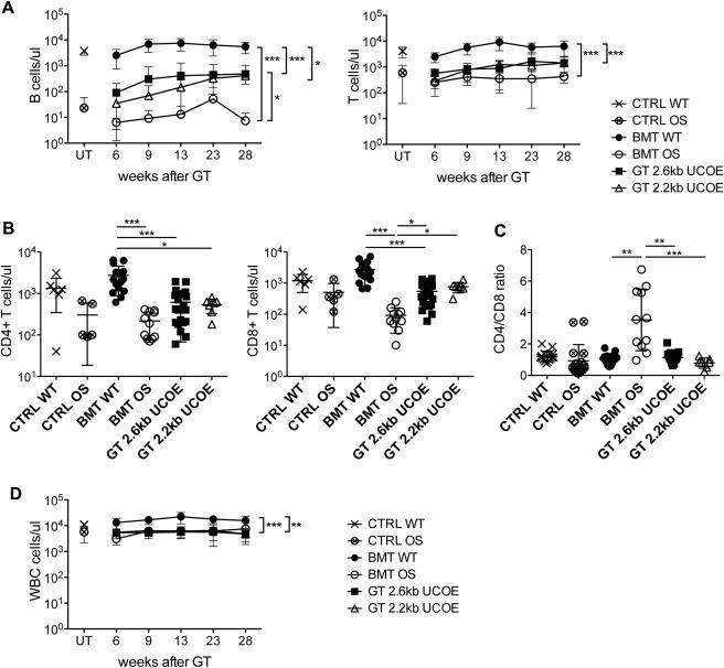 Efficacy of lentivirus-mediated gene therapy in an Omenn