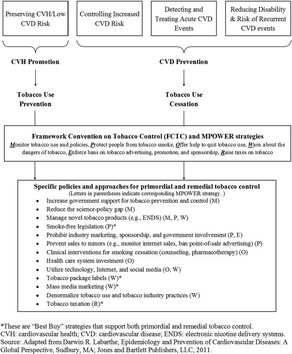 Global tobacco prevention and control in relation to a