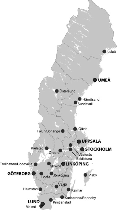 Urbanization Productivity And Innovation Evidence From - Sweden map universities