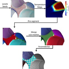 Hybrid geometry / topology based mesh segmentation for