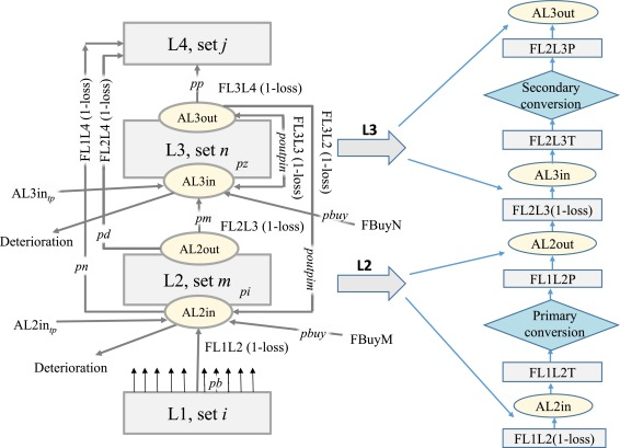 Synthesis of biogas supply networks using various biomass and manure