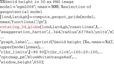 Matlab script for 3D visualizing geodata on a rotating globe