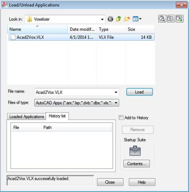 A visual LISP program for voxelizing AutoCAD solid models