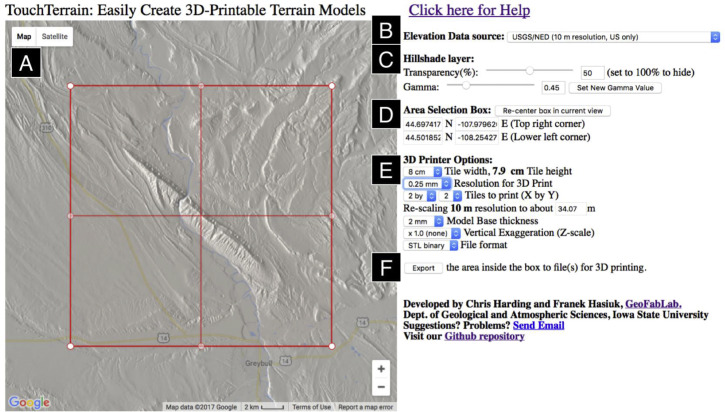 TouchTerrain: A simple web-tool for creating 3D-printable ...