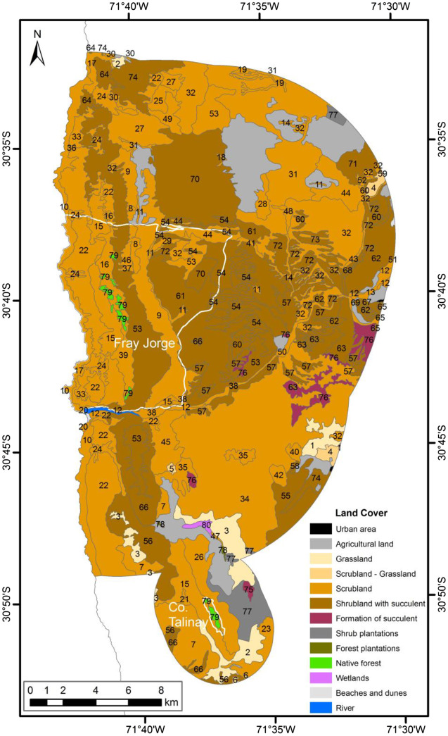 Vegetation Of Bosque Fray Jorge National Park And Its Surrounding Matrix In The Coastal Desert Of North Central Chile Sciencedirect