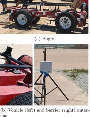 Vehicle-to-barrier communication during real-world vehicle
