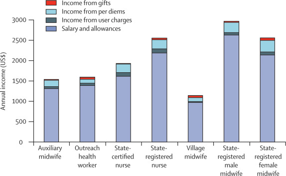 Salaries and incomes of health workers in sub-Saharan Africa