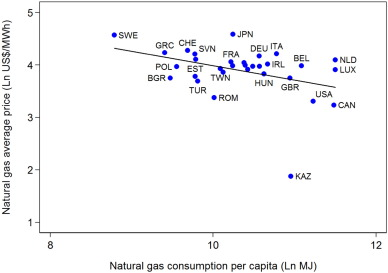 The Price And Income Elasticities Of Natural Gas Demand