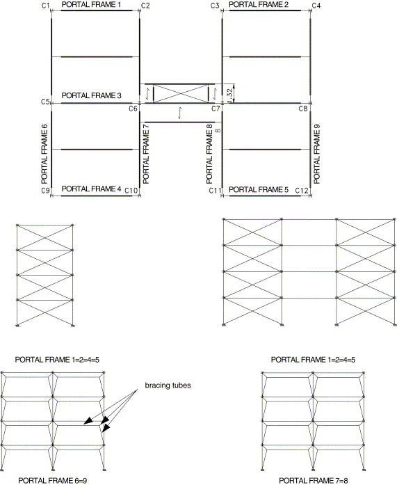 A parametric analysis of steel and composite portal frames with semi ...