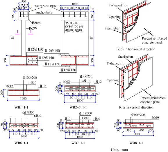 1 s2.0 S014102961600050X gr1 precast segmental reinforced concrete walls under eccentric RC Circuit Diagram at readyjetset.co