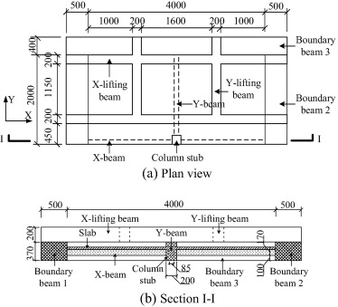 Experimental investigation of RC beam-slab substructures
