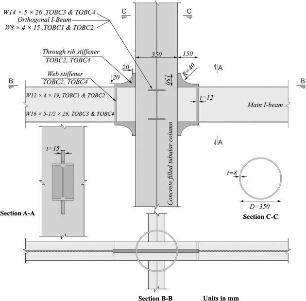 Seismic performance of a new through rib stiffener beam connection