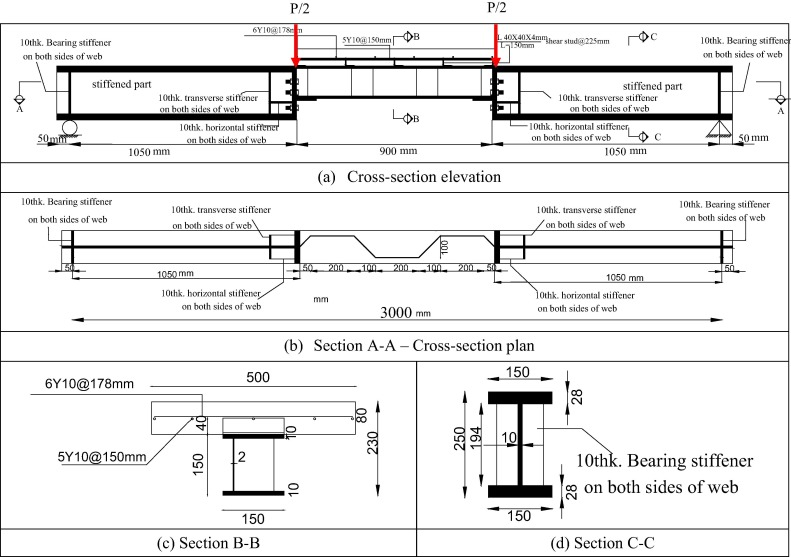 Flexural Behaviour And Capacity Of Reinforced Concrete Steel Composite Beams With Corrugated Web And Top Steel Flange Sciencedirect