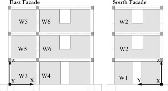 Prediction of the earthquake response of a three-storey infilled RC