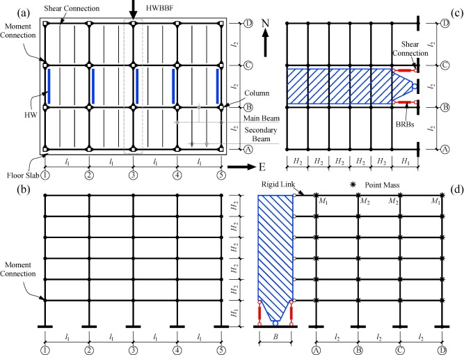 Seismic lateral displacement analysis and design of an