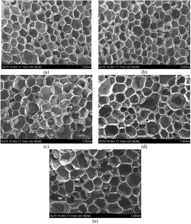 Sound absorption properties of polyurethane foams derived