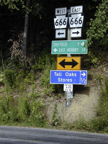 Alternative tourism geographies leveraging the ironic case of pa route 666 and tall oaks stores signs sciox Gallery