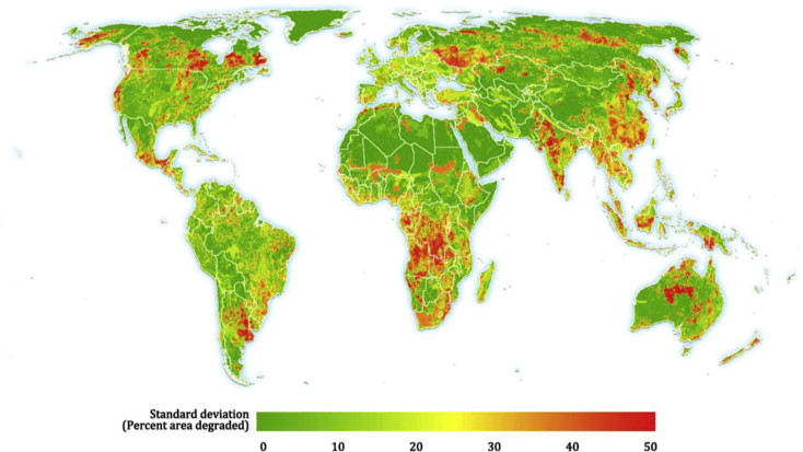 Mapping The Worlds Degraded Lands ScienceDirect - Argentina agriculture map