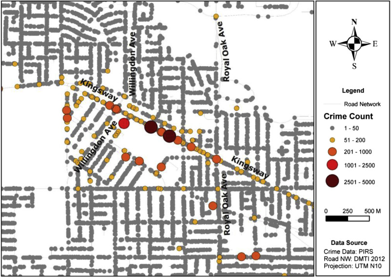 Street profile analysis: A new method for mapping crime on