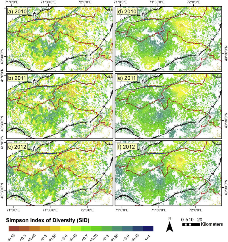 Mapping and assessing crop diversity in the irrigated Fergana Valley
