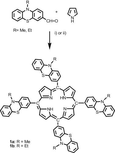Novel Meso Phenothiazinylporphyrin Dyes Synthesis Optical