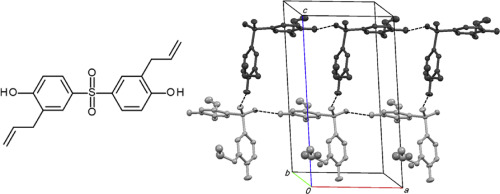 Structural comparison of two bisphenol S derivatives used as