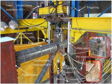Experimental study on tubular K-joints under impact loadings