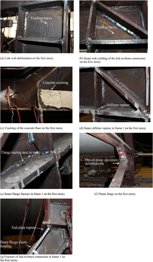 Cyclic behaviour of Y-shaped eccentrically braced frames fabricated ...