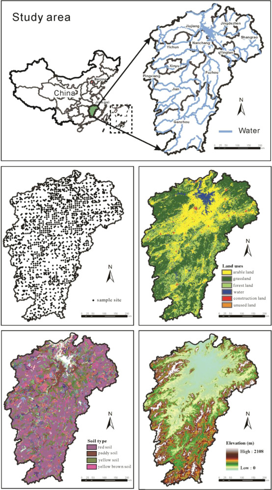 Environmental Distribution And Associated Human Health Risk Due To - Jingdezhen map