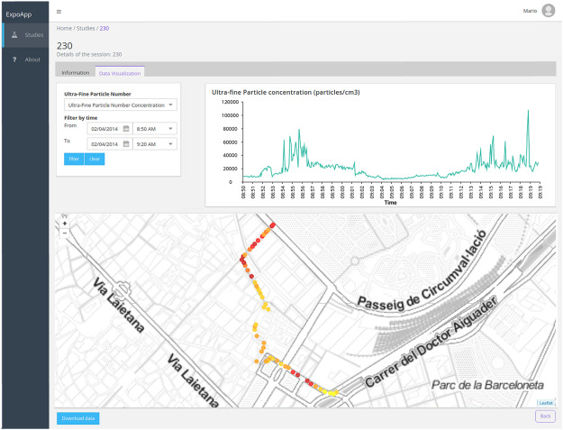 ExpoApp: An integrated system to assess multiple personal