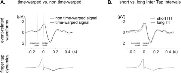 EEG time-warping to study non-strictly-periodic EEG signals