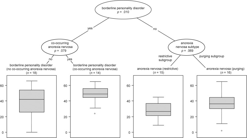 Cognitive distortions in anorexia nervosa and borderline personality